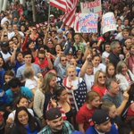 These fans are pumped! #USWNT Ready to see their Womens World Cup Champs! Dont miss it, LIVE at 11am on @ABC7 http://t.co/oQLGcXg0Jc