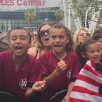 Mom tells me she drove her girls from La Habra for #USWNT #WorldCup Champ Rally; they soccer is their life. @KNX1070 http://t.co/Usfb56cT3X