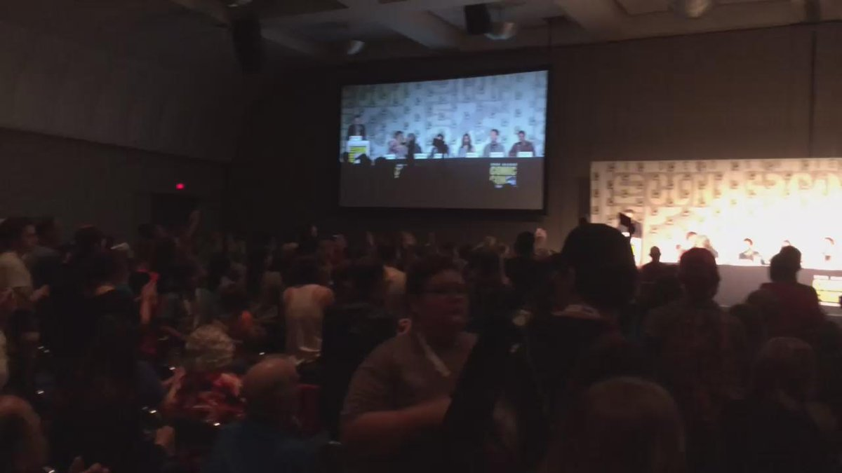 audience gives a standing ovation. @DanPovenmire @mmonogram get emotional & thanks everyone for the last 10 yrs. ❤️ http://t.co/qQtOks5mRv
