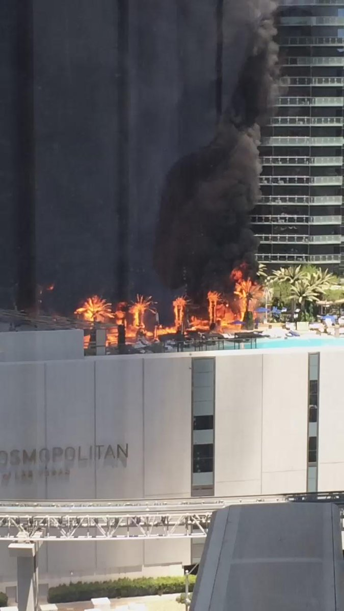 5 years ago Vegas got so hot the Cosmo caught on fire
