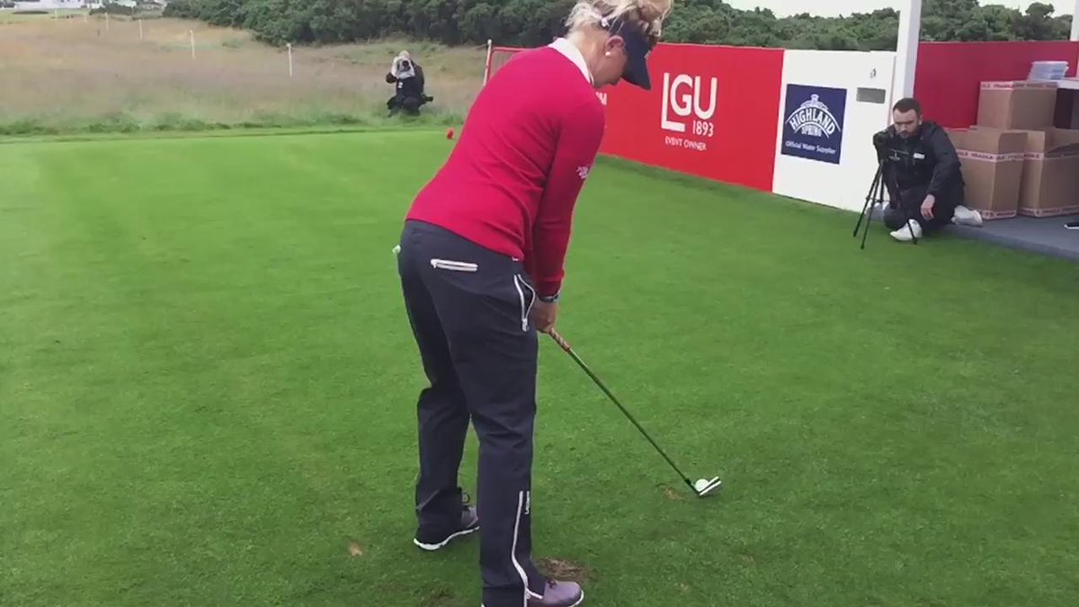 The youngest ever #SolheimCup player and @LETgolf OoM winner @HullCharley tees off in this mornings Pro-Am #RWBO15 http://t.co/CrDorE52bO