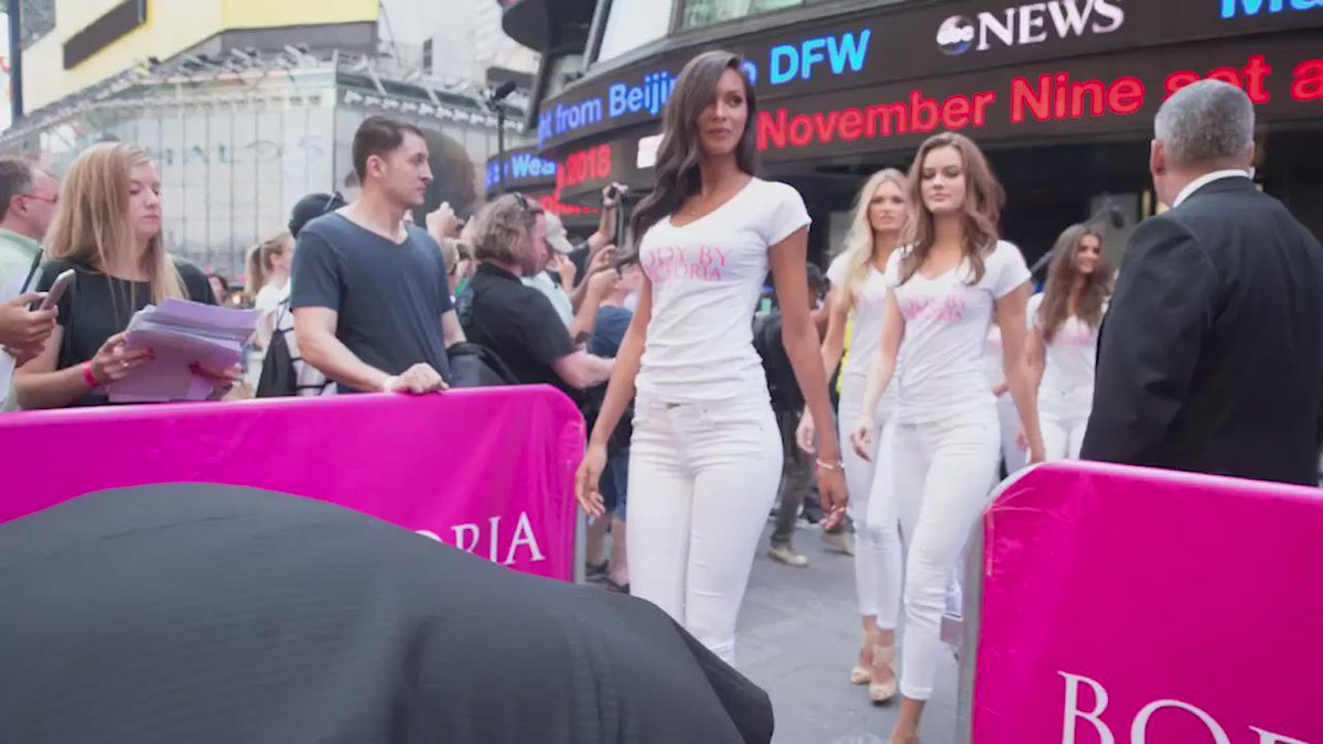 #TheNewestAngels making an entrance to celebrate new Body By Victoria! ???????????? http://t.co/Jq7or8h8pi