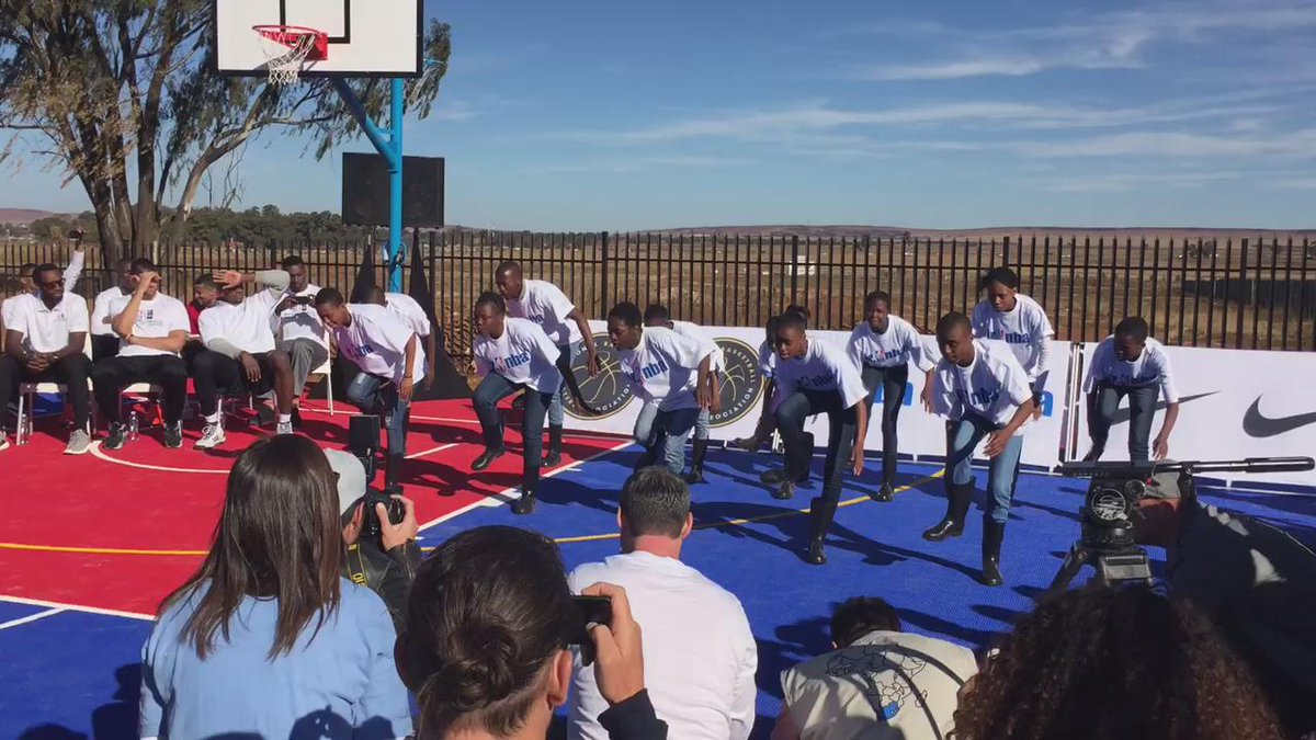 Boys and Girls Club kids performing Gumboots dance @nbacares http://t.co/JwbYgB9RAI