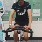 Stoke City CEO joining a cycling challenge today to back @TSorensen1 raise money for @UHNMCharity @bbcmtd @stokecity http://t.co/T5LqhpTjTt