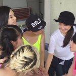 松井玲奈さん&ベイビーレイズJAPAN円陣再び!!! 気合い入りました!!! #ベイビーレイズJAPAN #TIF2015 http://t.co/7SEK51INi6