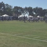 What everyone in Oxnard is here to see: @TonyRomo to @DezBryant. #CowboysCamp #WFAACowboys http://t.co/ZwDVFt8yGQ