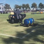 "This is how us ""normal people"" move the sled. #CowboysCamp #WFAACowboys http://t.co/AVbBehkgMD"