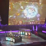 For the audience at home. They projection map the ultimates. #TI5 http://t.co/dxjaWIFmzH