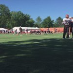 Manziel hands off to new RB Parmele #19Browns #BrownsCamp http://t.co/oPNyudL0fH
