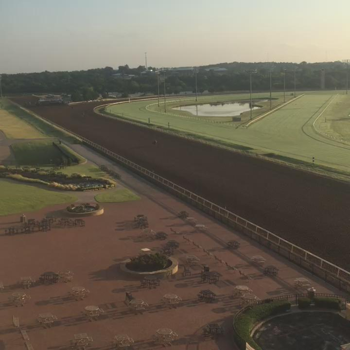 Beautiful morning at the track! Happy #OpeningWeek at @RemingtonPark #okc #thoroughbreds are back! ❤️❤️