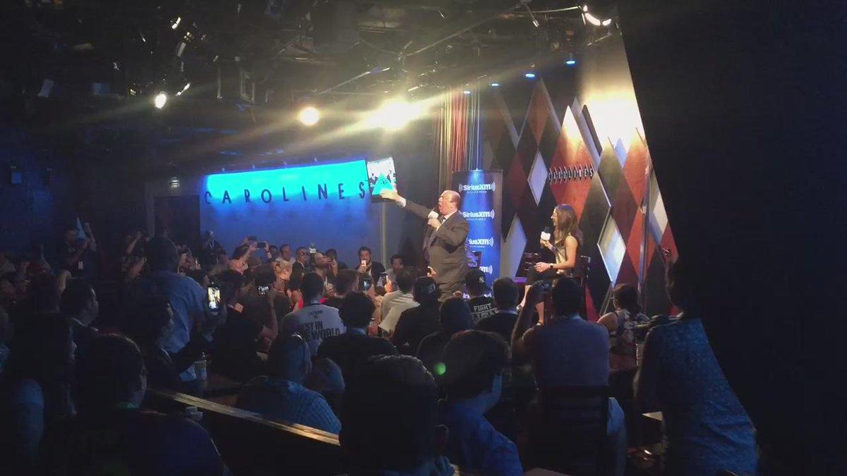 .@HeymanHustle singing Glory Glory Brock Lesnar at @notsam's live @SIRIUSXM show at @CarolinesonBway http://t.co/ZCxr5sORlY