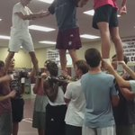When you make the football team try a stunt since they're always sayin cheer isn't a real sport ???????????????????? https://t.co/J2SFeXqHG4