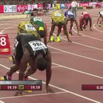 USAIN, USAIN! RT @ImJames_: Just watched the 200m final…. OMG This @usainbolt is unreal #Beijiing2015 http://t.co/8bJWBeVV7T