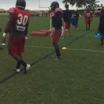 Its throw back Thursday @FAU_football. The #FAU RBs are showing their moves during cut back drills. #OWLin http://t.co/wTJpSfHJwd