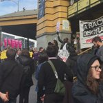 Huge crowd assembling in Melbourne to protest #borderfarce. HELL YES, MY CITY. #auspol http://t.co/wiH15OjsaQ
