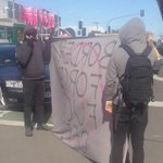 Police asking protesters to move on. Protesters not abiding. #BorderForce http://t.co/bxOABzJ7rw