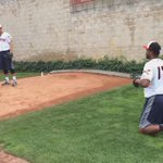 Noahs having fun learning to pitch with the @erie_seawolves #playball http://t.co/ZbiLmqDHCJ