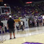 Three point contest at the alumni classic tonight. @Dame_Lillard with a buzzer beater. #WeAreWeber http://t.co/sHlho4UFbm