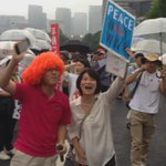 Happening Now in #Tokyo 120,000+ protesting Abes security policies at #Japans parliament @SEALDs_Eng http://t.co/zggkF26WCo