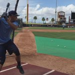 George Springer taking batting practice at Whataburger Field. @astros #IMHOOKED http://t.co/a8ObAMfj9v