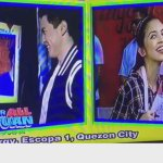 Perfect kiss! @mainedcm @aldenrichards02 @EatBulaga @allanklownz  #ALDUBJourneyToForever http://t.co/r1Ug5tHkkA