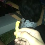 how my baby sister reacts to eating a fries http://t.co/NQ3q0RjN5F