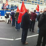 Main rd #Liverpool blocked by construction workers protesting v alleged blacklisting & lack unions @ new Royal H site http://t.co/bapteKxg8l