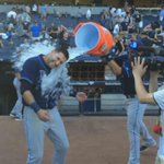 RT @RaysBaseball: Dunk with courtesy: #Rays let @Ken_Rosenthal step aside before dousing @KKiermaier39. http://t.co/y8CqwRFeOM