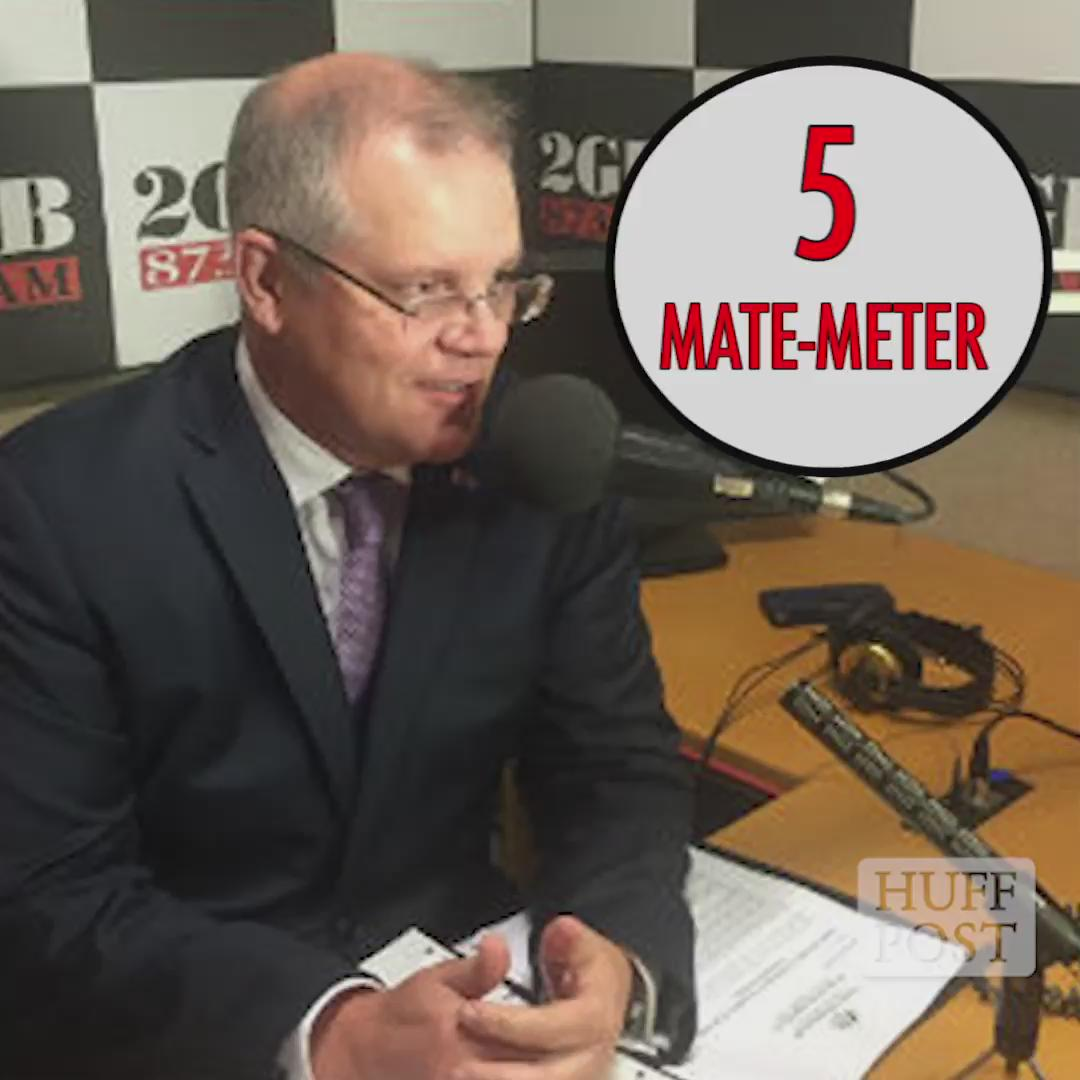ScoMo just blew out the mate-meter... #libspill #RayHadley http://t.co/9E7KbPHgw2