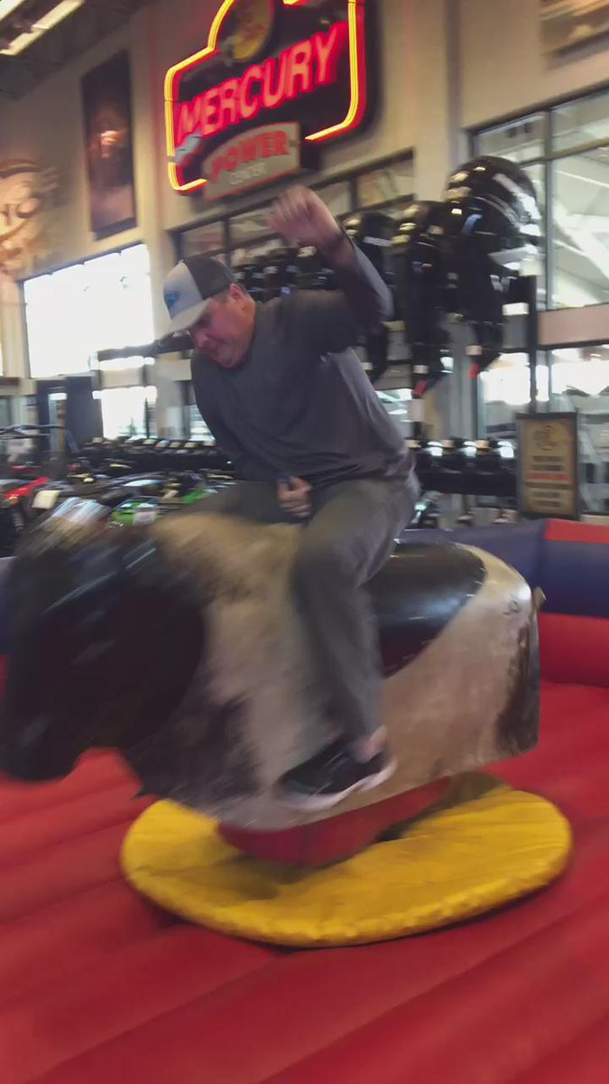 Apparently at @BassProShops #bullriding is easier to talk about for @TeamCooperTire @PBR #announcer @clintadkins ... http://t.co/2f4vslR3rK