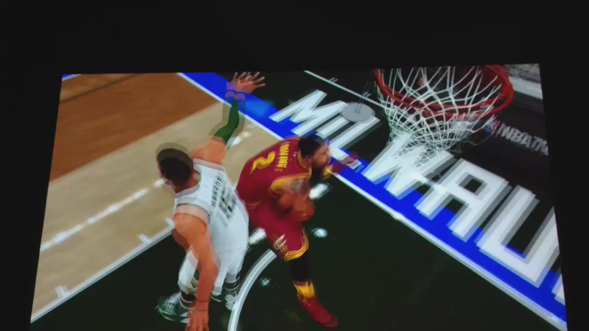 The #NBA2K16 game is so detailed it even includes Chris Bosh doing this (watch): http://t.co/JgWbGkrCQK