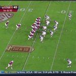 Sixty-five yards! @BarryJSanders26 wont be denied. #GoStanford #BeatZona Watch now @Pac12Networks http://t.co/1AEox4u4WH