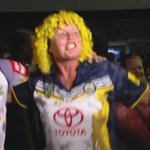 Cowboys fans in Townsville celebrating their maiden premiership @7NewsQueensland @sunriseon7 #NRLBroncosCowboys http://t.co/xDeP1ELKBK