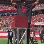 NBA Finals MVP Andre Iguodala fires up the Faithful! http://t.co/VhT26RVJSC