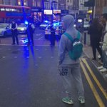Walthamstow London right now. Black college students fighting. http://t.co/K9FrAa0klm
