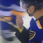 Yadier Molina out to drop the puck at the St. Louis Blues opener on the eve of NLDS vs. Cubs. This is good stuff. http://t.co/JZcy8CvDMA