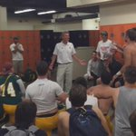 We beat Los Al so Coach White did the whip! 💚⚡️🏈 http://t.co/H61bx7Tfcu