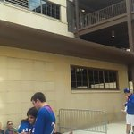 """A look around the student entrance to Phog Allen Fieldhouse ahead of """"Late night in the Phog"""" --- #kubball http://t.co/wkqR2n7Esu"""