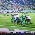 A great FAT GUY TOUCHDOWN is usually capped off with a swan dive. Touchdown Marshall. http://t.co/LWcrH9knDu