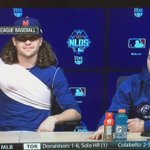 """deGrom messing with Murphys chair and Murph saying """"YOWZERS"""" is the funniest thing Ive ever seen. http://t.co/kRygKb9Dqs"""