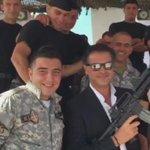 سعادة السفير السوبر ستار @raghebalama يلبي دعوه قائد مغاوير البحر في الجيش اللبناني لحضور حفل تخرج ضباط و افراد http://t.co/eXsY7dE5nZ