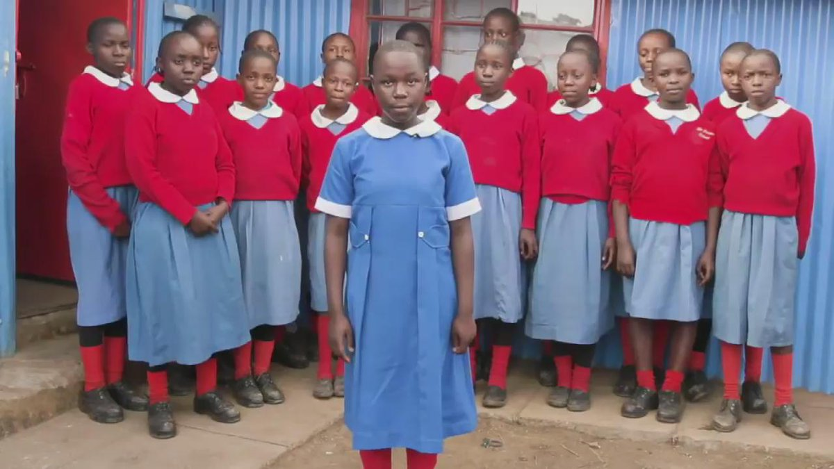 A 12-year-old #GirlHero from the @hope2shine school in Kibera in Nairobi, Kenya. #dayofthegirl http://t.co/Arobb6uqa7