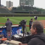 Calm before the storm! @EvanWFitzgerald and I are LIVE from field at Wrigley at noon @fox32news http://t.co/2qG2tiVSQq