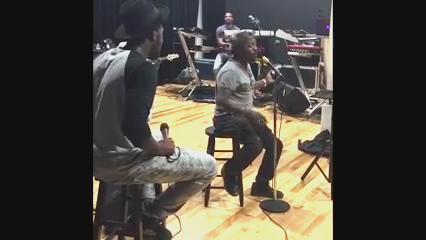 It's a negro spiritual now. RT @callmedollar: Anthony Hamilton sings with Lawry's seasoning on his microphone. https://t.co/XnPXMHzLE7