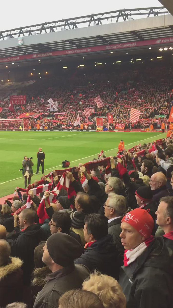 You'll Never Walk Alone @LFC https://t.co/hkFcQW8MpD