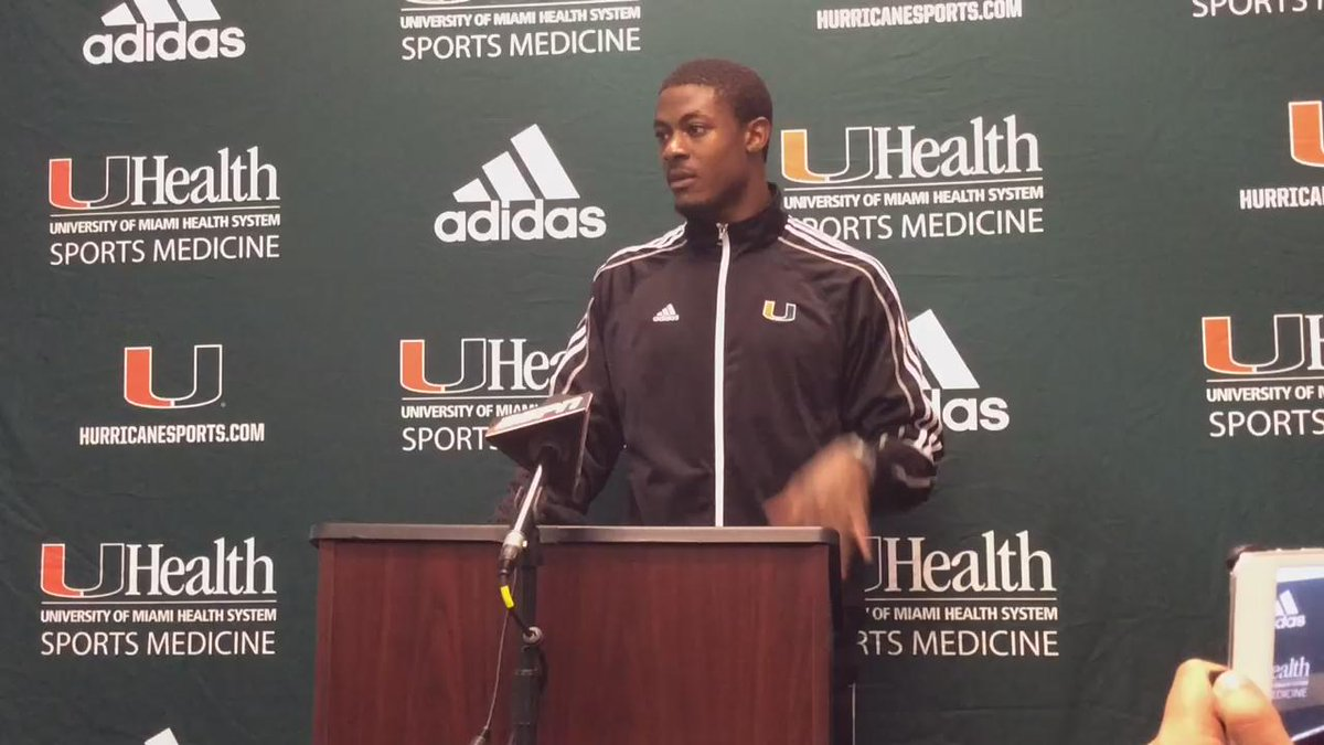 "#Canes CB Artie Burns.... ""She was out there"" https://t.co/wnY3GgGU8k"