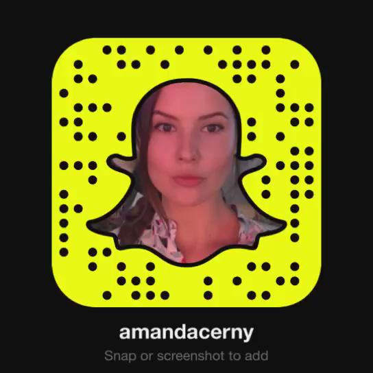 Add me as a friend on snapchat by either typing in AmandaCerny or using this snapchat code☺️? https://t
