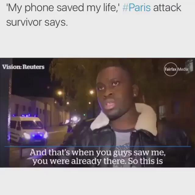 His phone took the bullet and saved his life