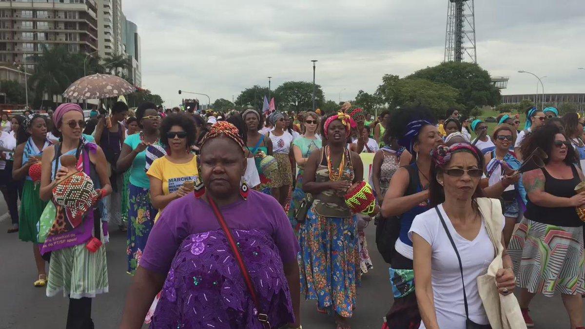 Global Black Family at the #MarchaDasMulheresNegras #Brazil #Afrifem #BlackFeminisms https://t.co/C5RwIesVBU