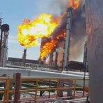 Imágenes del incendio en la refinería de Salina Cruz en Oaxaca el cual ya fue controlado https://t.co/rZZGWfdBiQ
